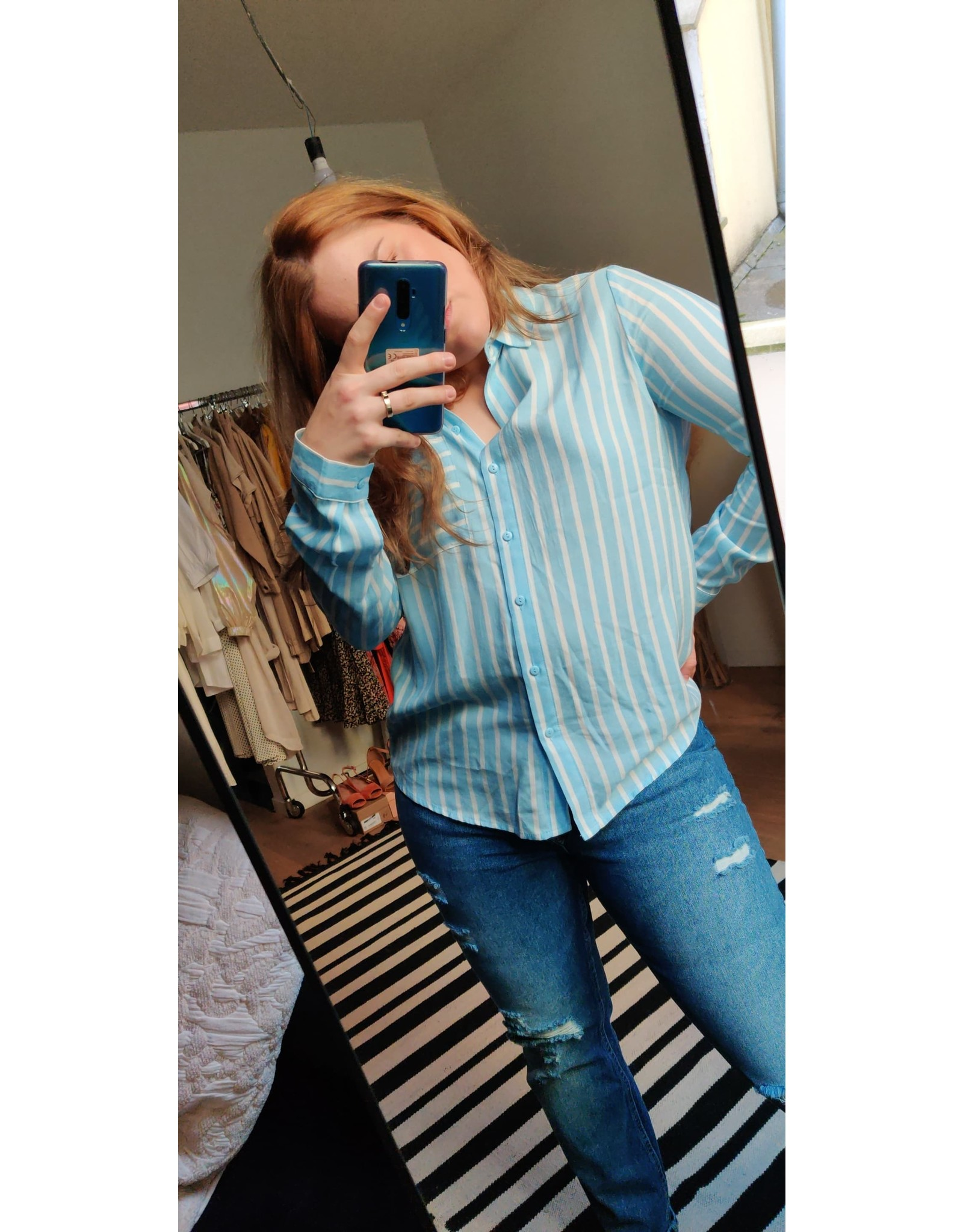 STRIPED SHIRT BABY BLUE