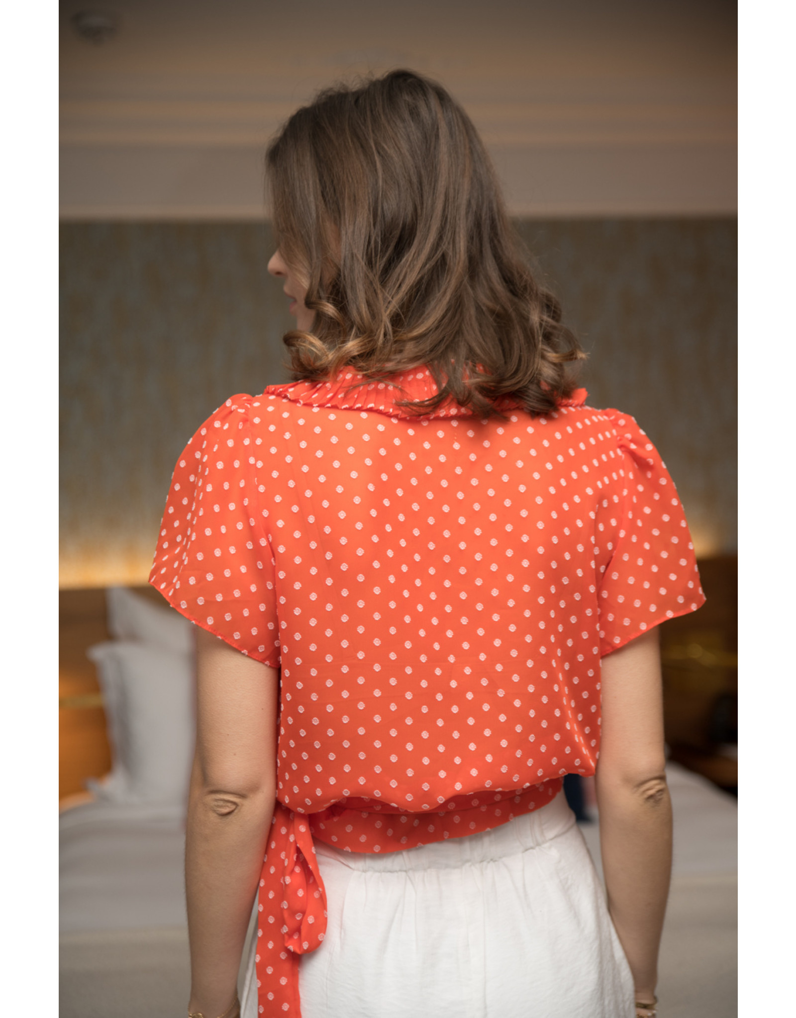 WRAP BLOUSE RED