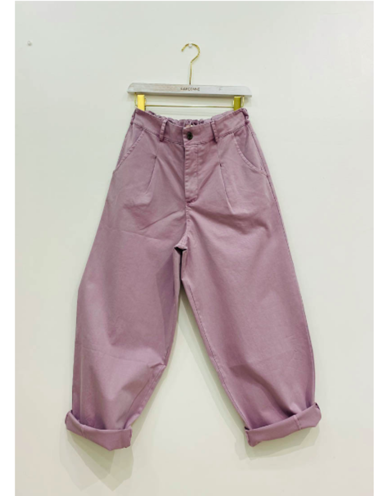 HIGH WAISTED TROUSERS LILAC