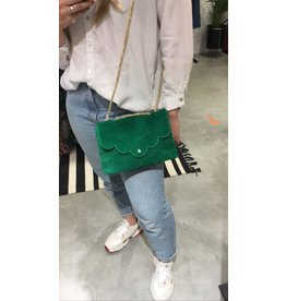 SUEDE BAG GREEN