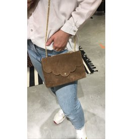 SUEDE BAG BROWN