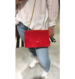 SUEDE BAG RED