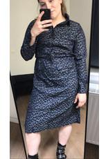 LEOPARD DRESS BLUE