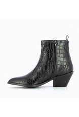 COWBOY BOOTS WITH DETAIL BLACK