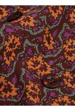FLORAL BUTTON SKIRT BROWN/ORANGE