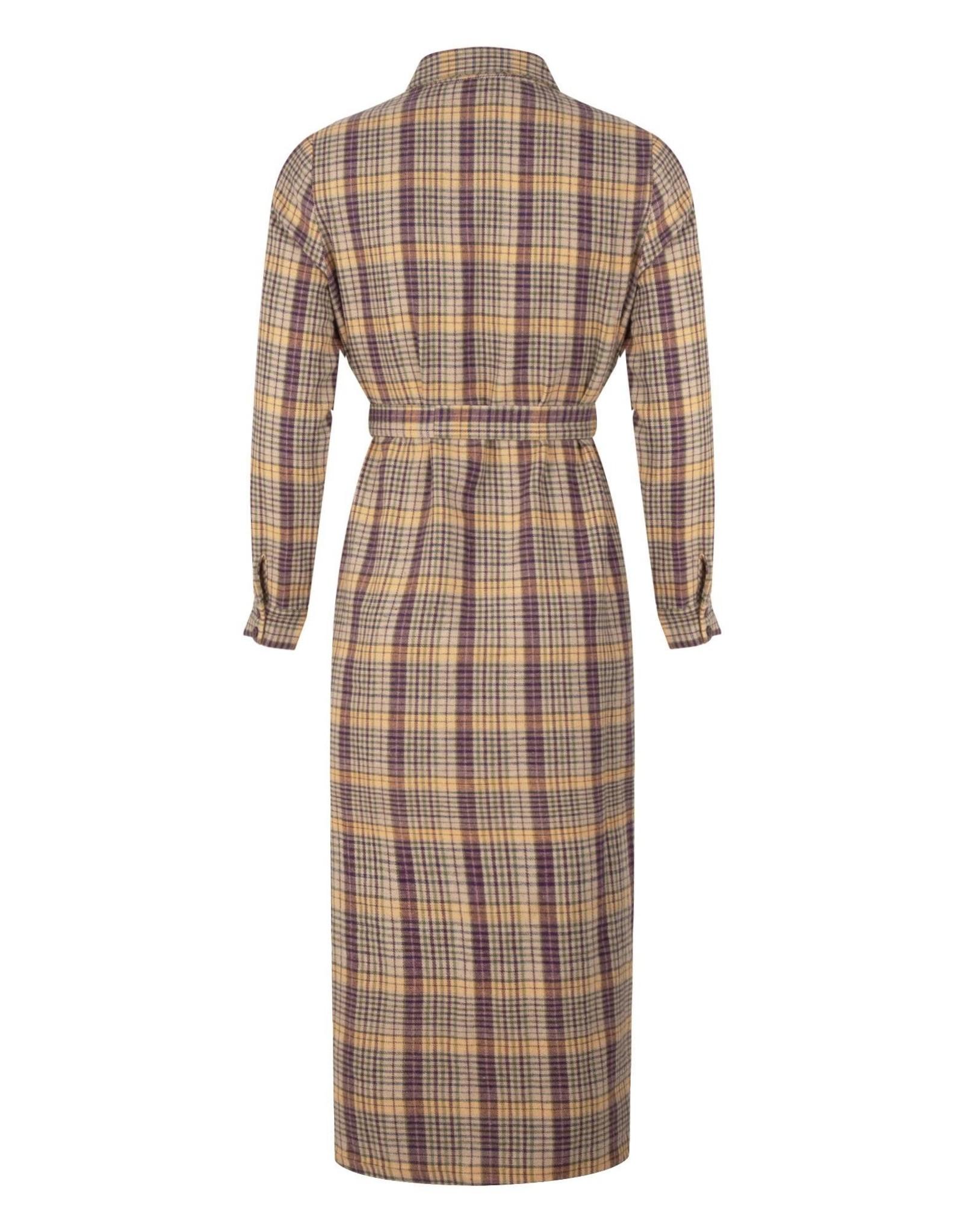 CHECK DRESS PURPLE