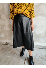 PARIS LEATHER SKIRT BLACK