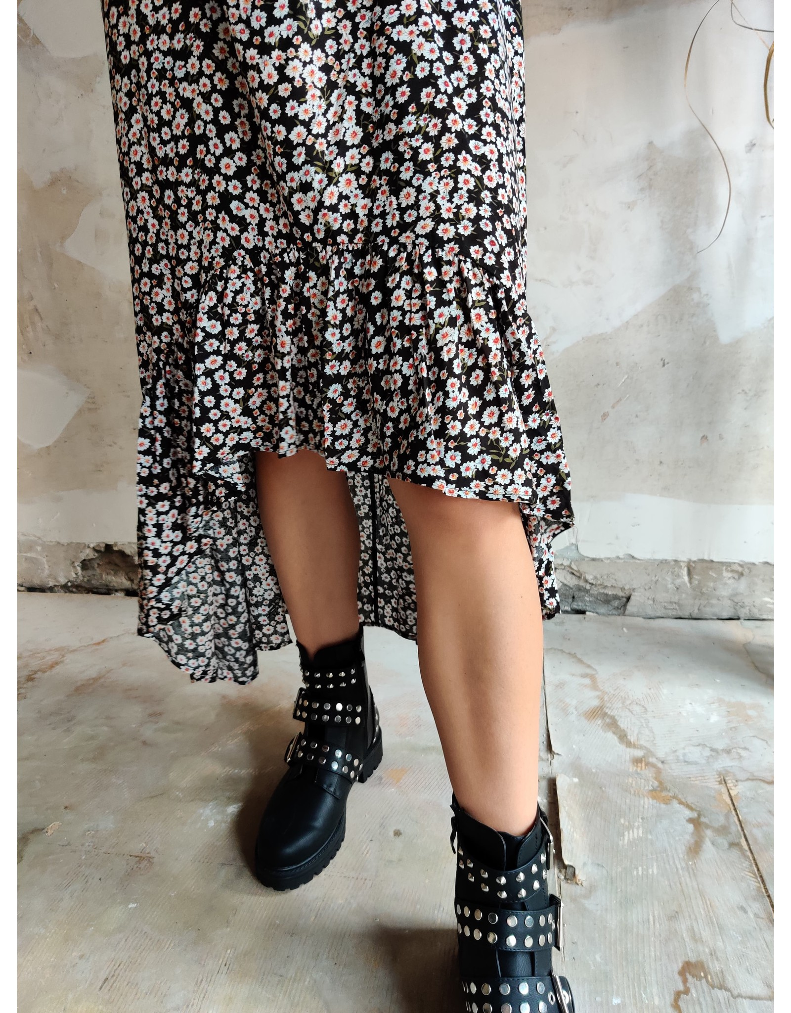 LOU FLOWER DRESS BLACK