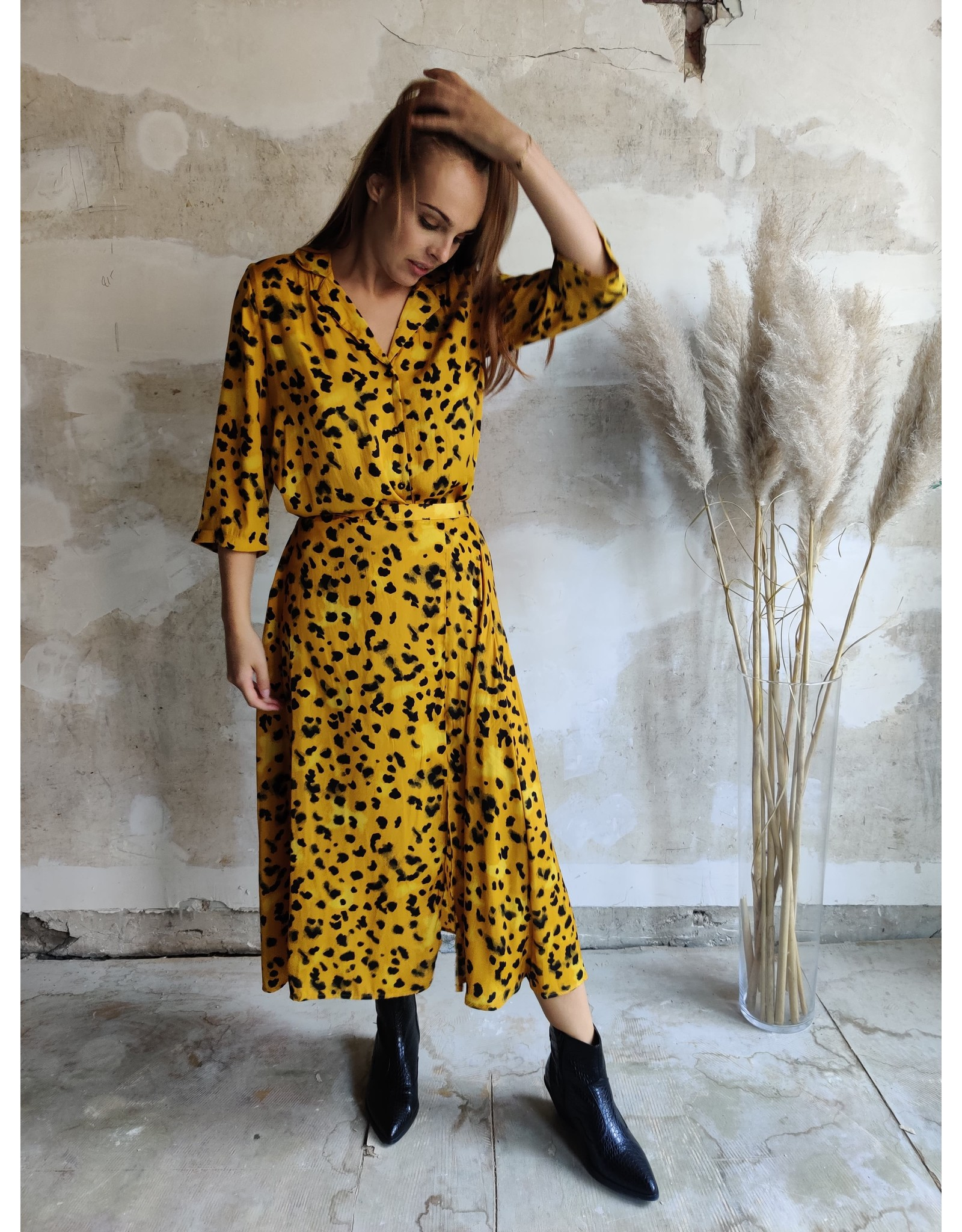SOPHIE LEOPARD SKIRT YELLOW