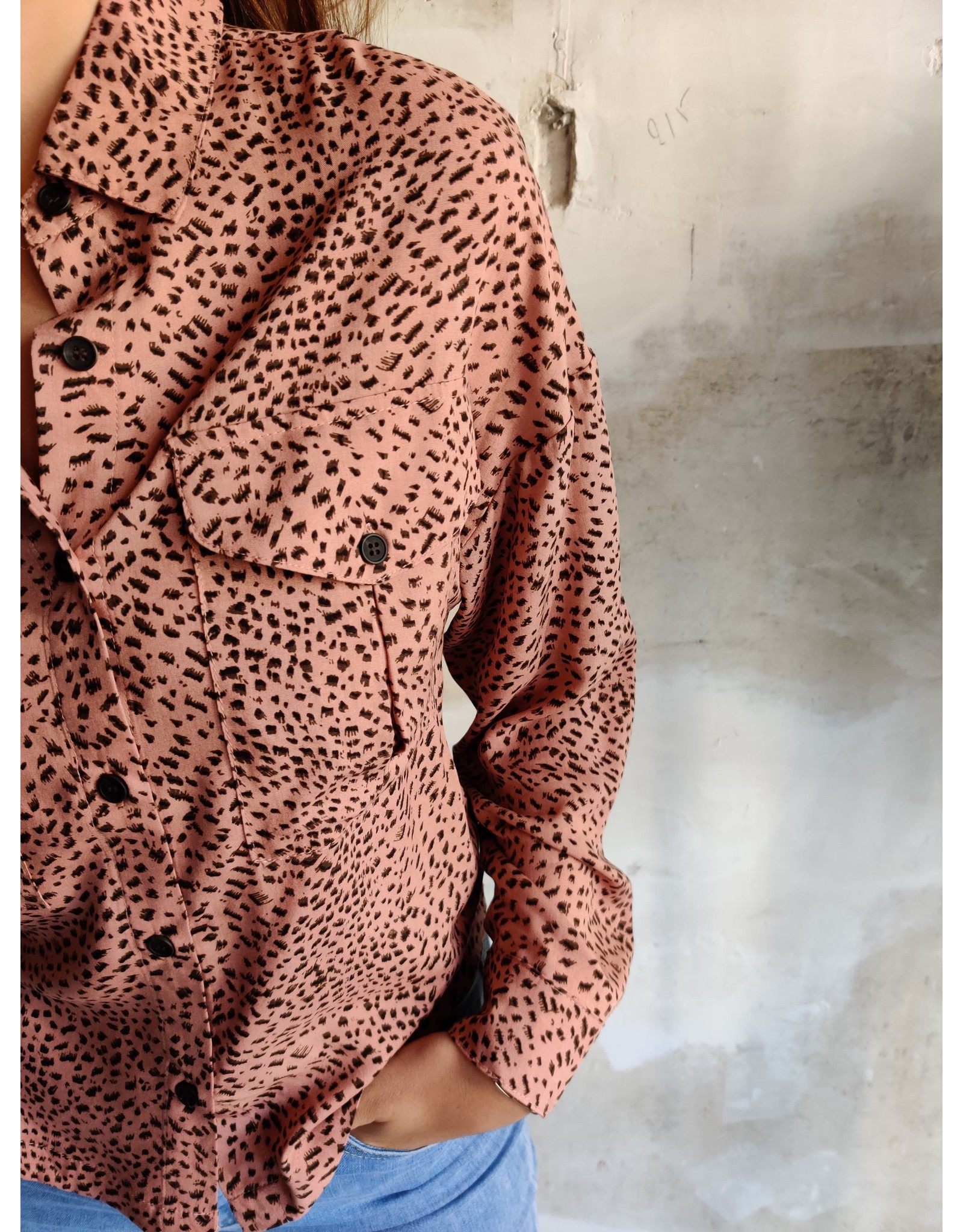 LOTTE LEOPARD SHIRT ROSE