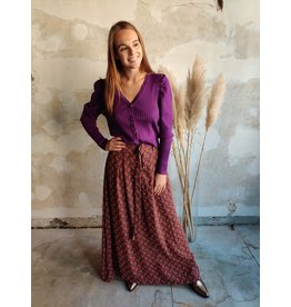 KNITTED TOP PURPLE
