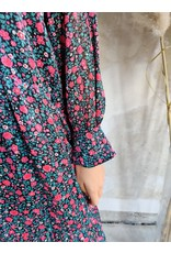 DRESS WITH GLITTER DETAIL GREEN/PINK