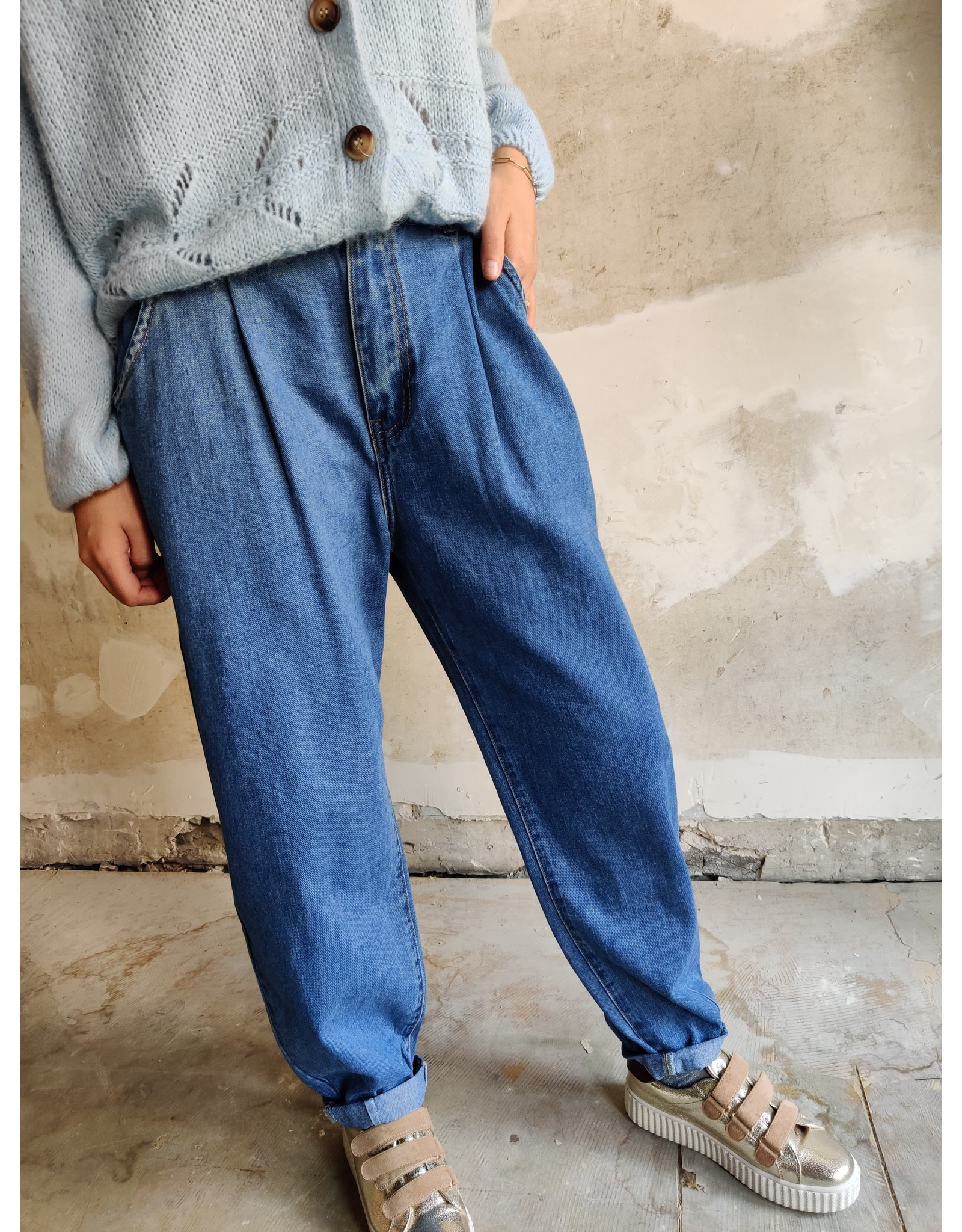 MOM JEANS BLUE