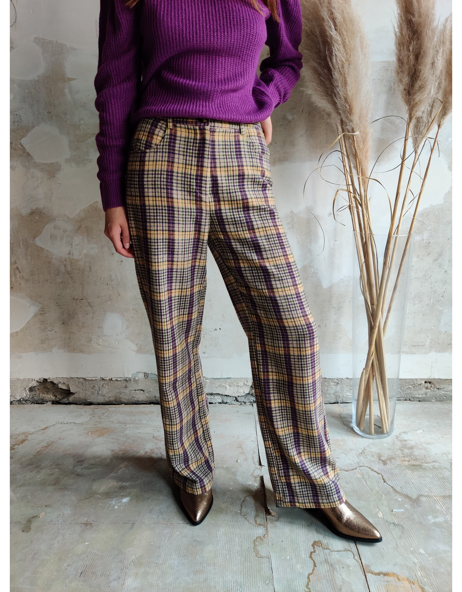 CHECK PANTALON PURPLE