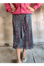 FRIL SKIRT WITH GLITTER DETAIL GREEN/PINK