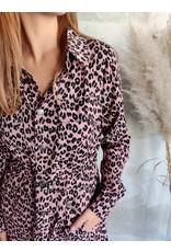 LEOPARD DRESS ROSE