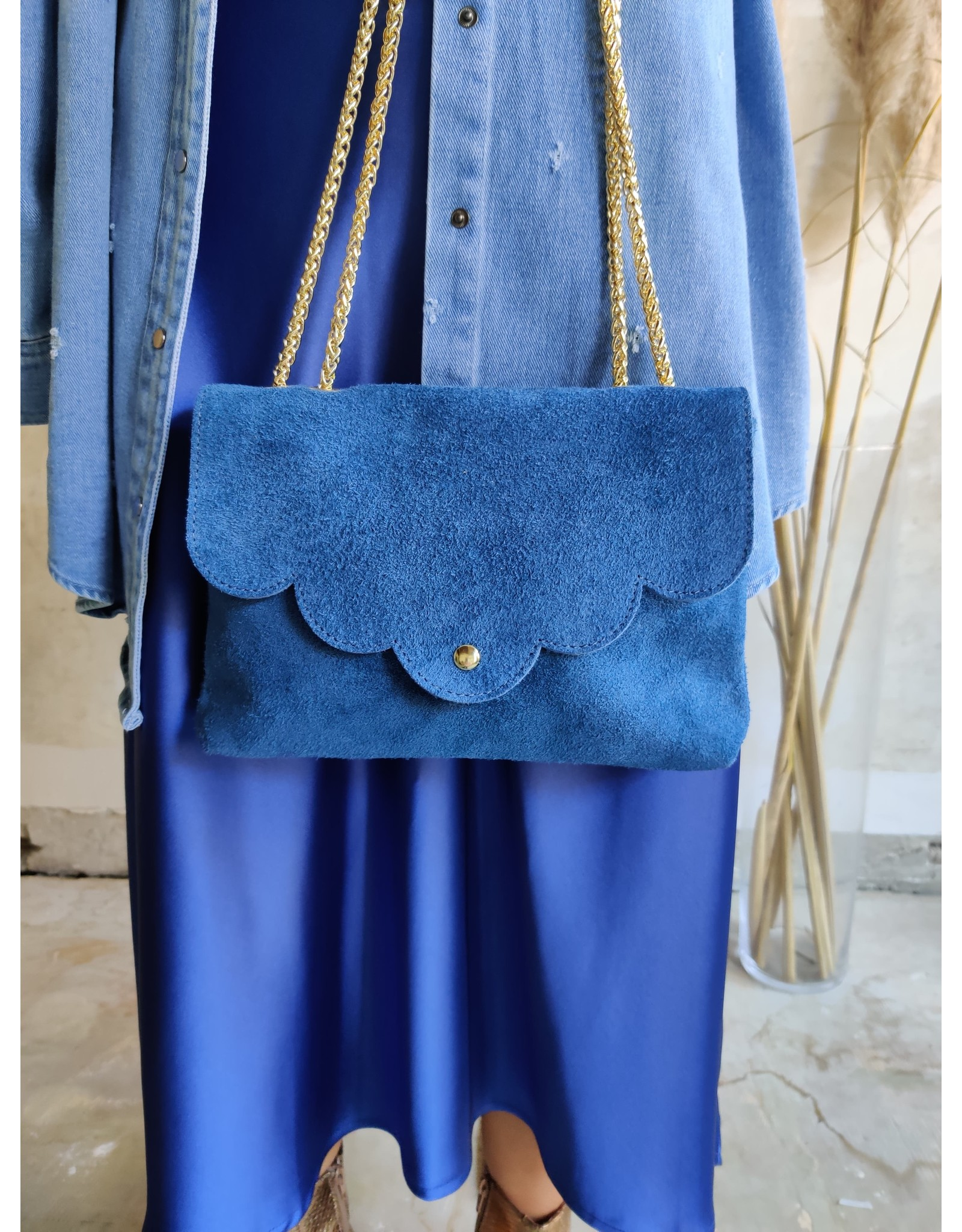 SUEDE BAG BLUE