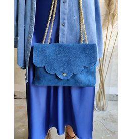 SUEDE BAG BLUE