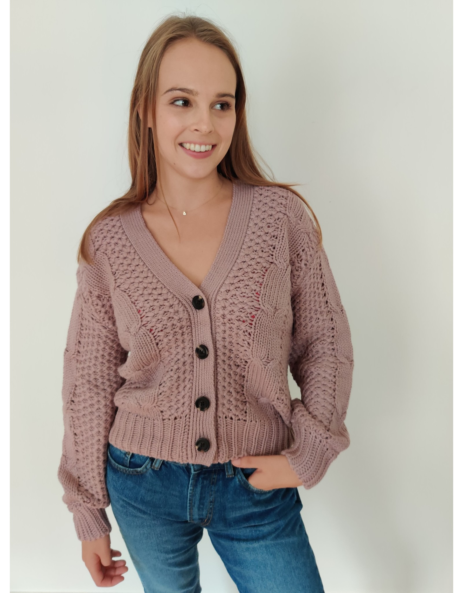 JULIA CARDIGAN ROSE