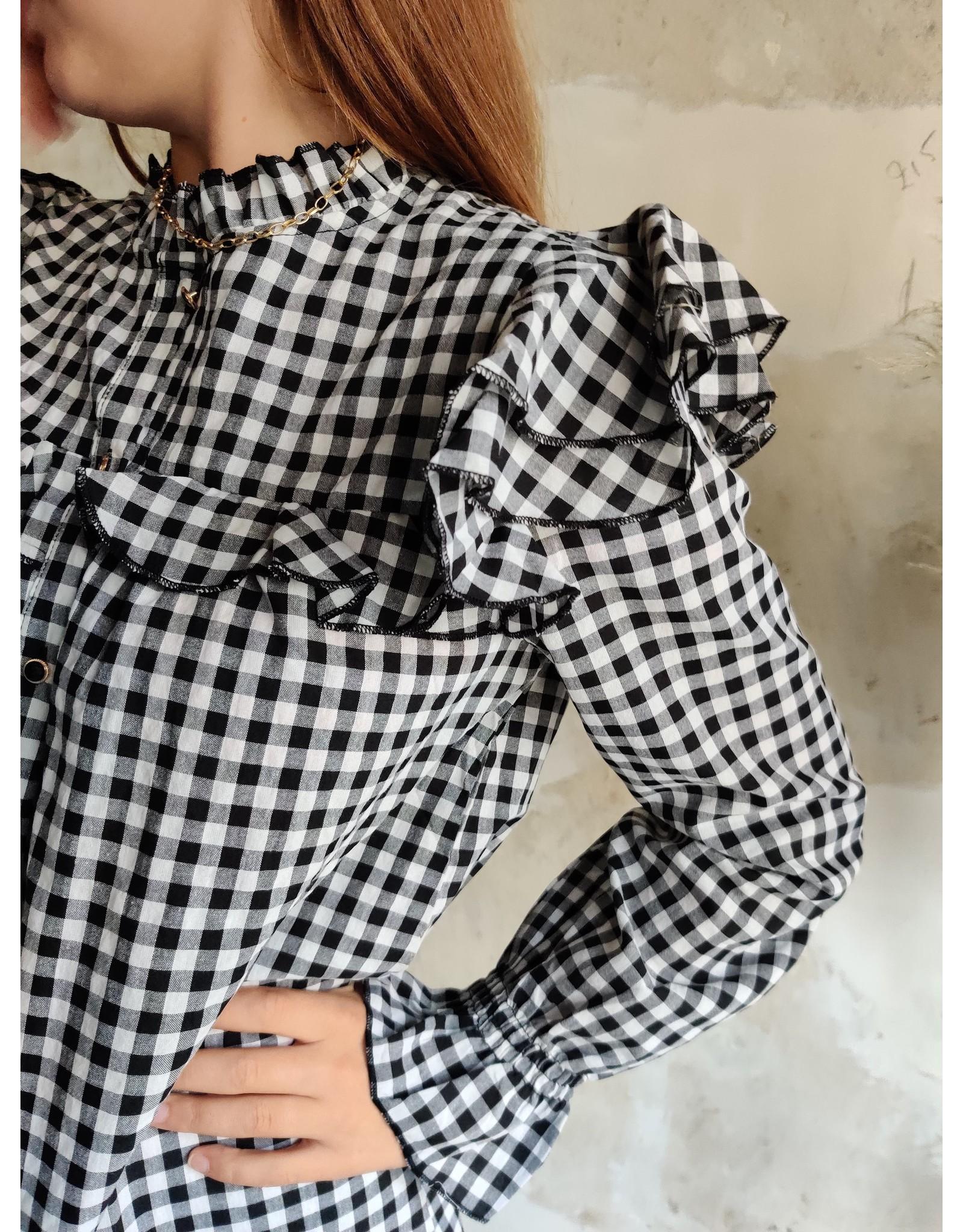 VICHY DRESS BLACK/WHITE