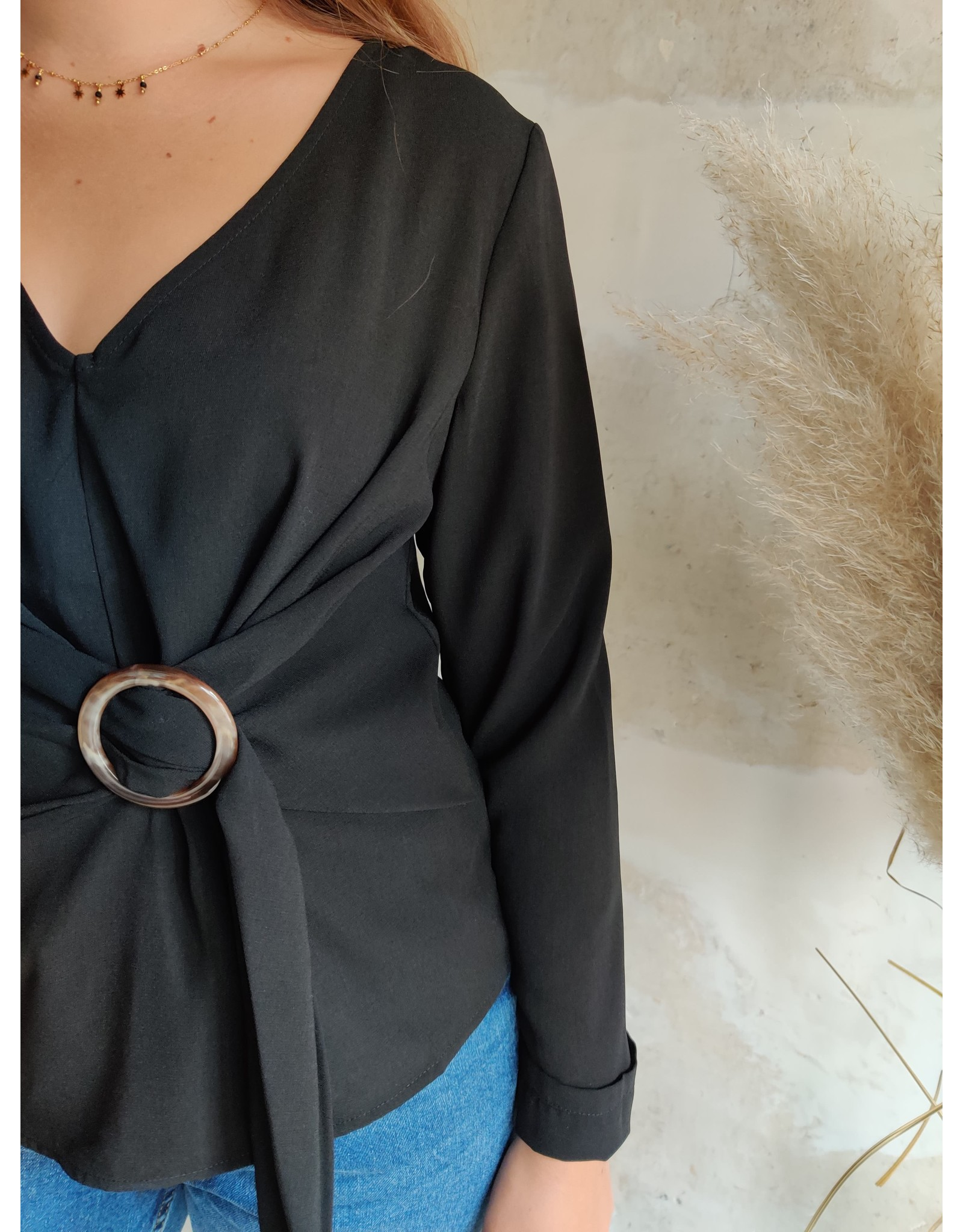 TESSA BLOUSE BLACK
