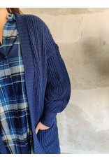 LIES CARDIGAN BLUE
