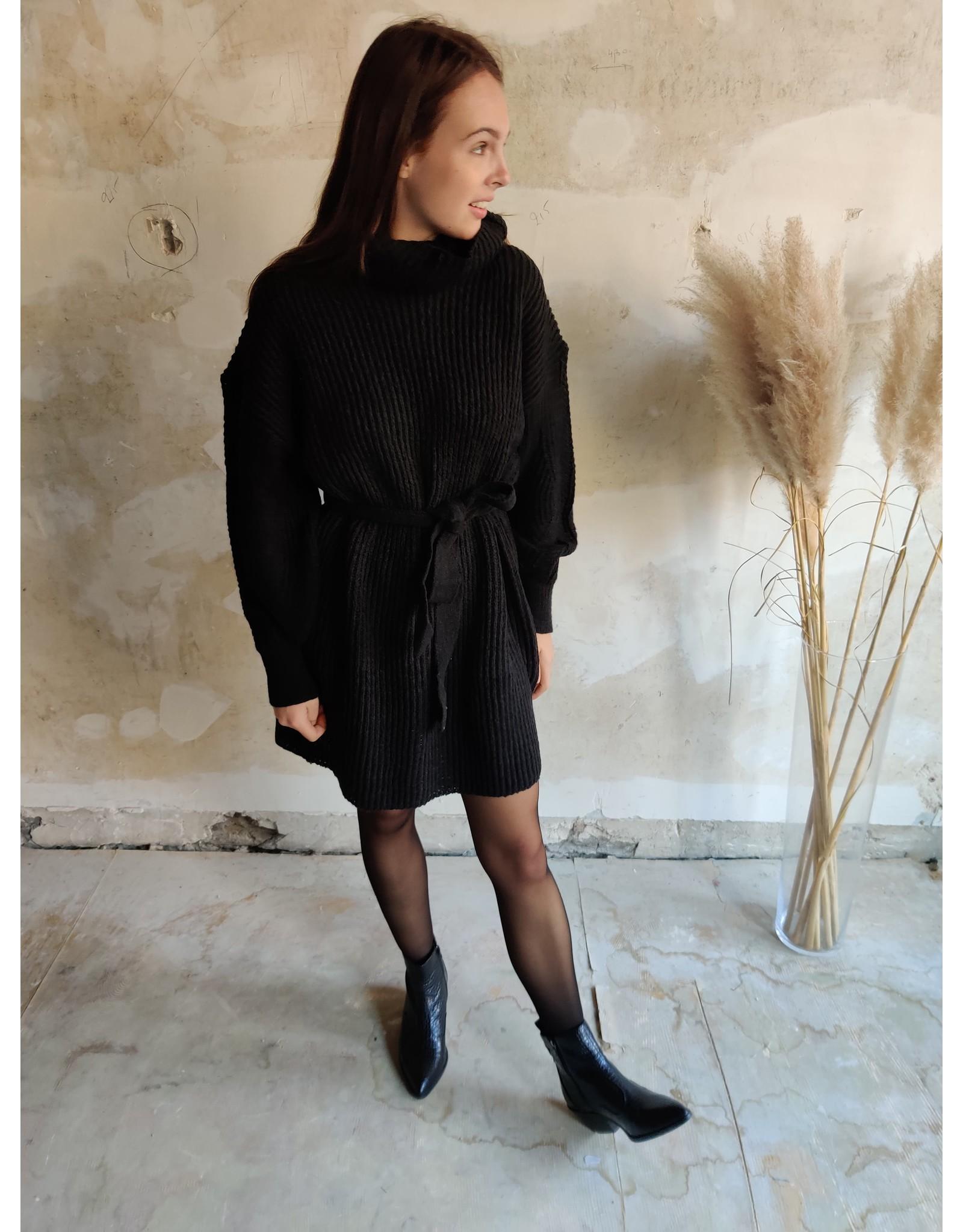 MONICA KNIT DRESS BLACK
