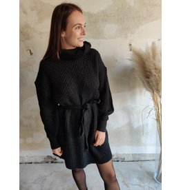 MONICA KNIT DRESS BLACK