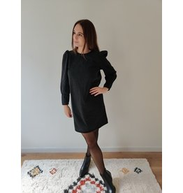 ELIZE DENIM DRESS BLACK