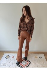 LOIS FLARED PANTS BROWN