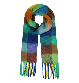 SCARF COLOR BLOCK GREEN