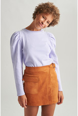 CROPPED PUFF SWEATER LILAC
