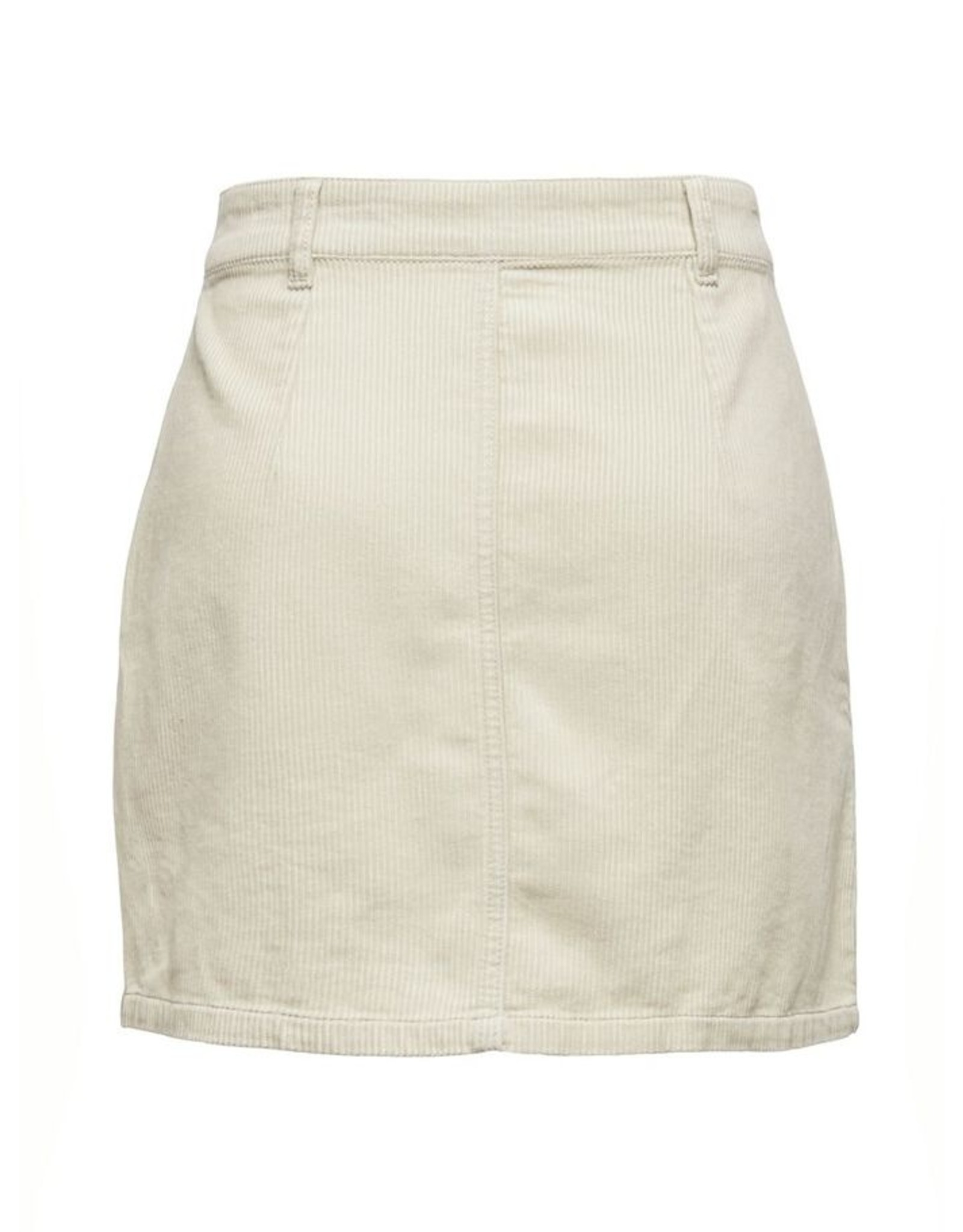CORD BUTTON SKIRT OFFWHITE