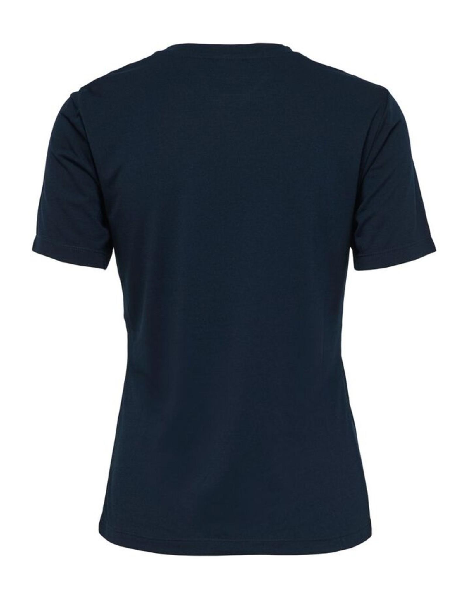BUTTON T-SHIRT BLUE