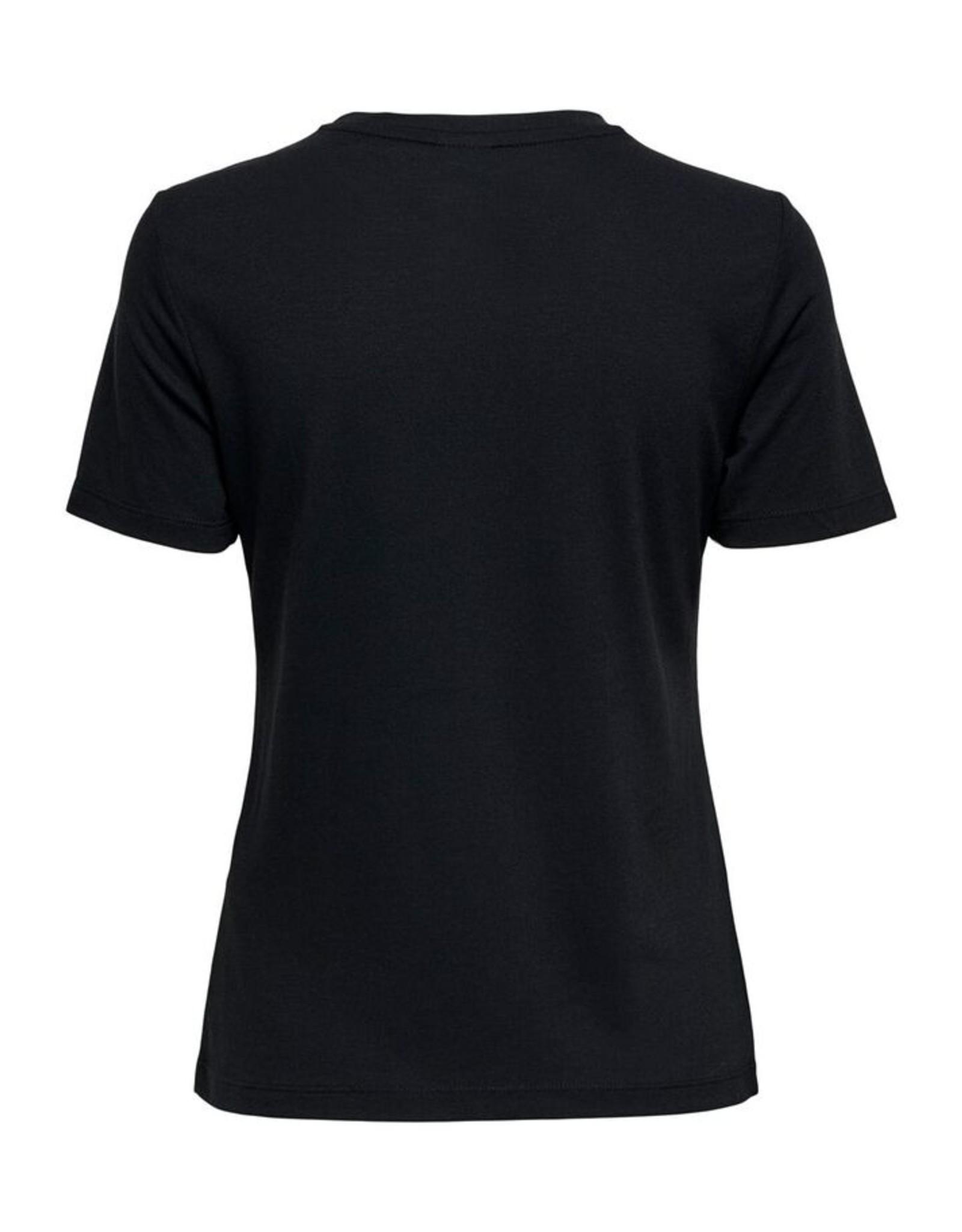 BUTTON T-SHIRT BLACK