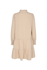 GINGHAM DRESS BEIGE CHECK