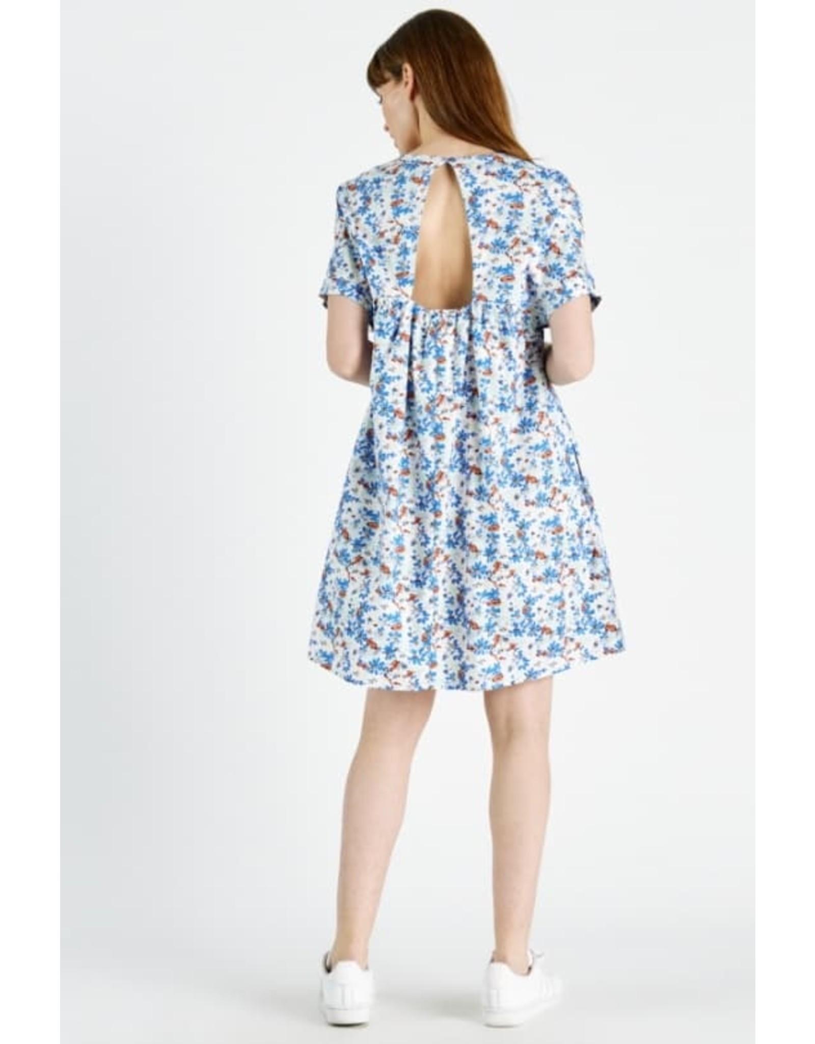 SUMMER FLORAL DRESS BLUE