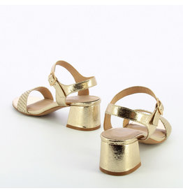 HEELED SANDALS GOLD
