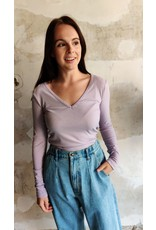 LONG SLEEVE TOP LILAC