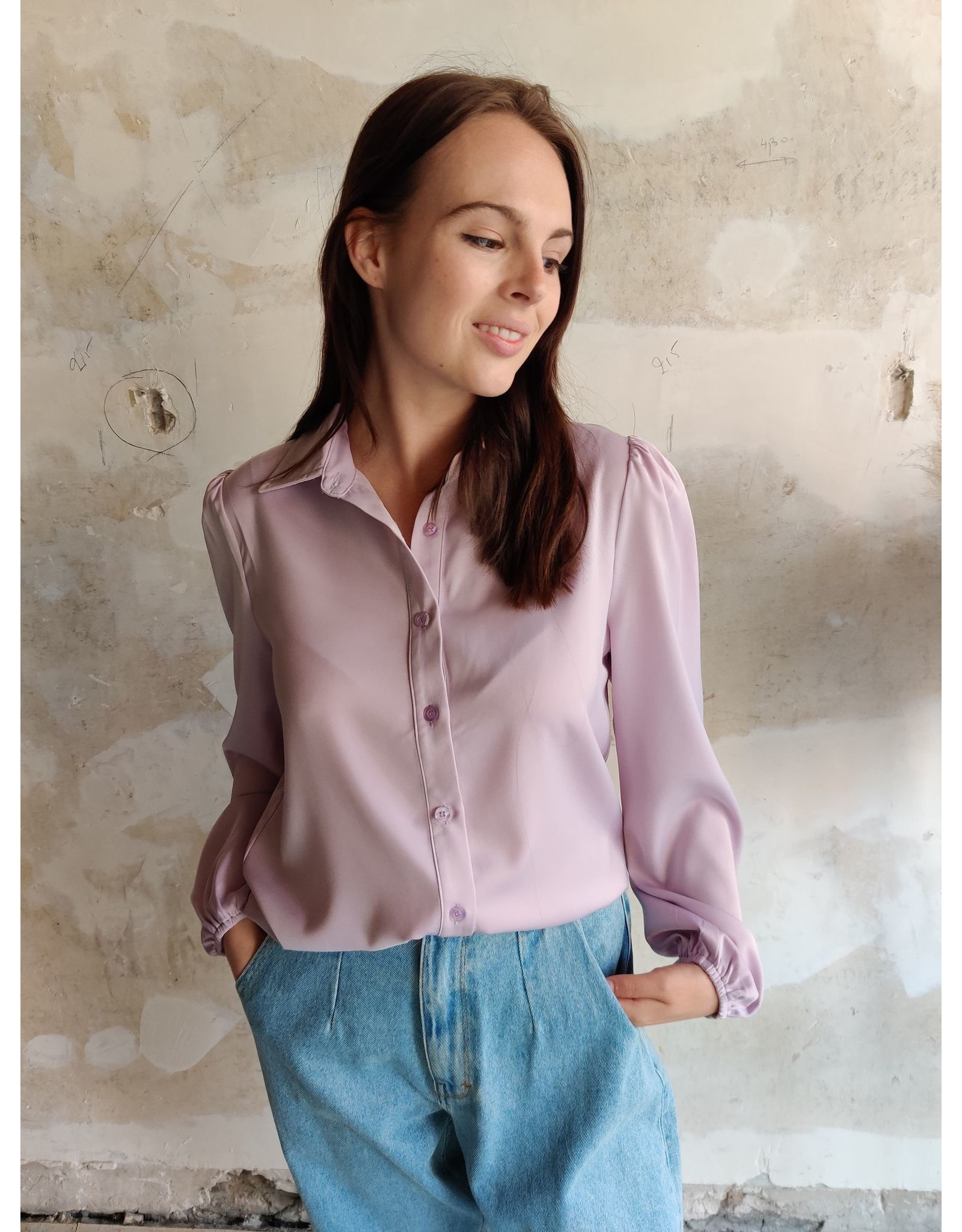 CHRISTINE BLOUSE LILAC