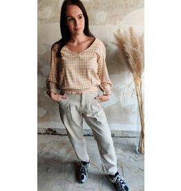MADDIE SLOUCHY ANKLE PANTS BEIGE