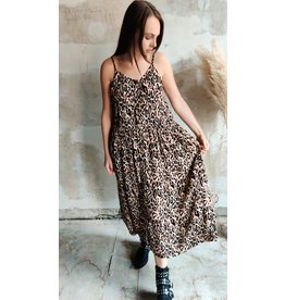 STRAP LEOPARD DRESS