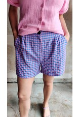 SHORT PIPER PINK PLAID