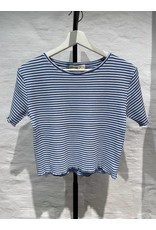 STRIPED CROPPED TOP BLUE/WHITE