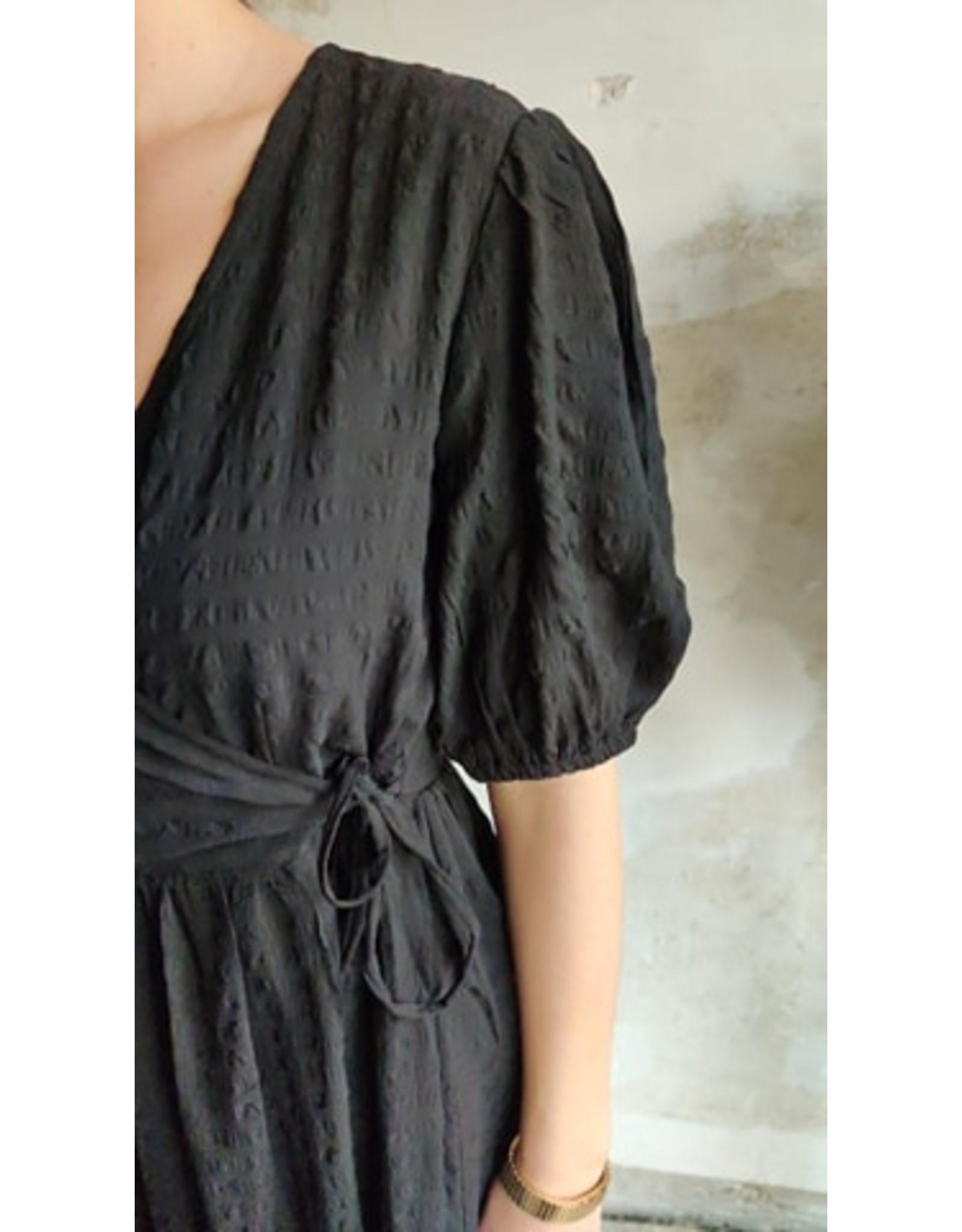 BUBBLE WRAP DRESS BLACK