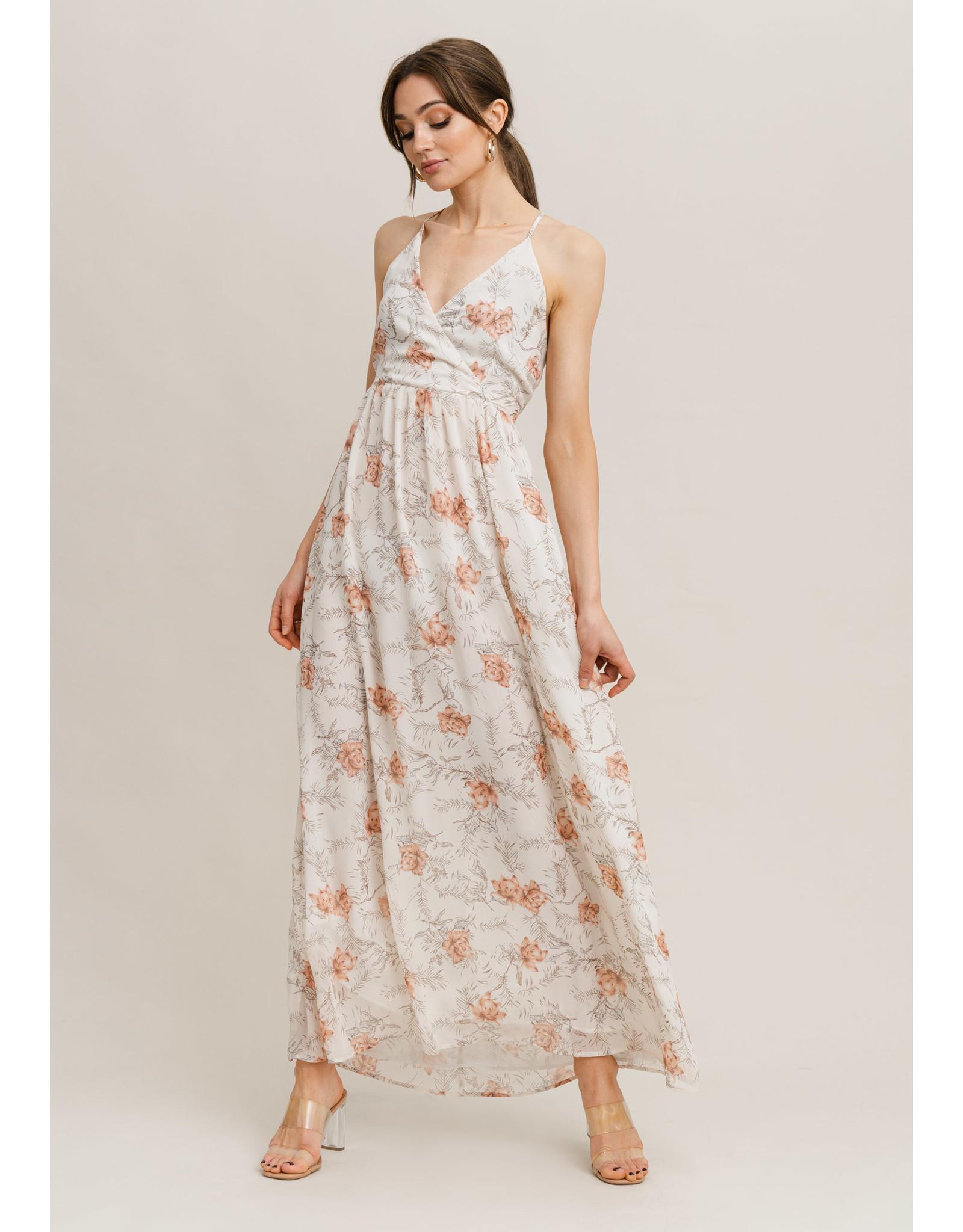 MAXI FLOWER DRESS ORANGE