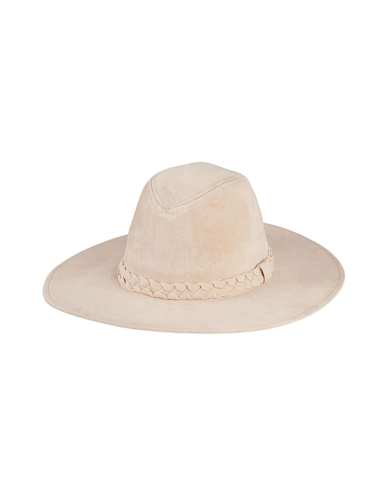 SUEDE HAT BEIGE
