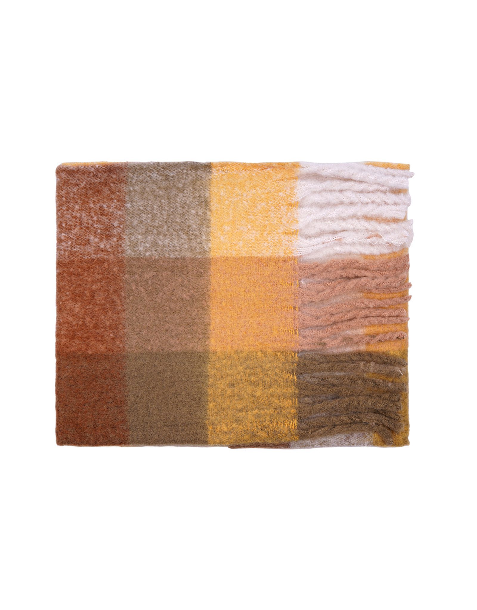 SCARF SQUARE BROWN
