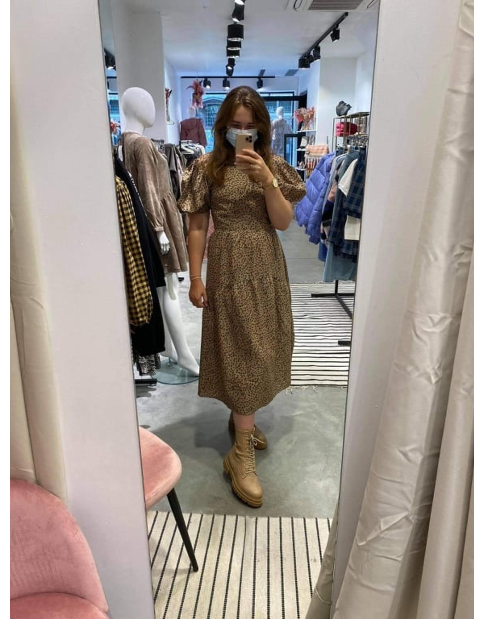 LEOPARD PUFF DRESS