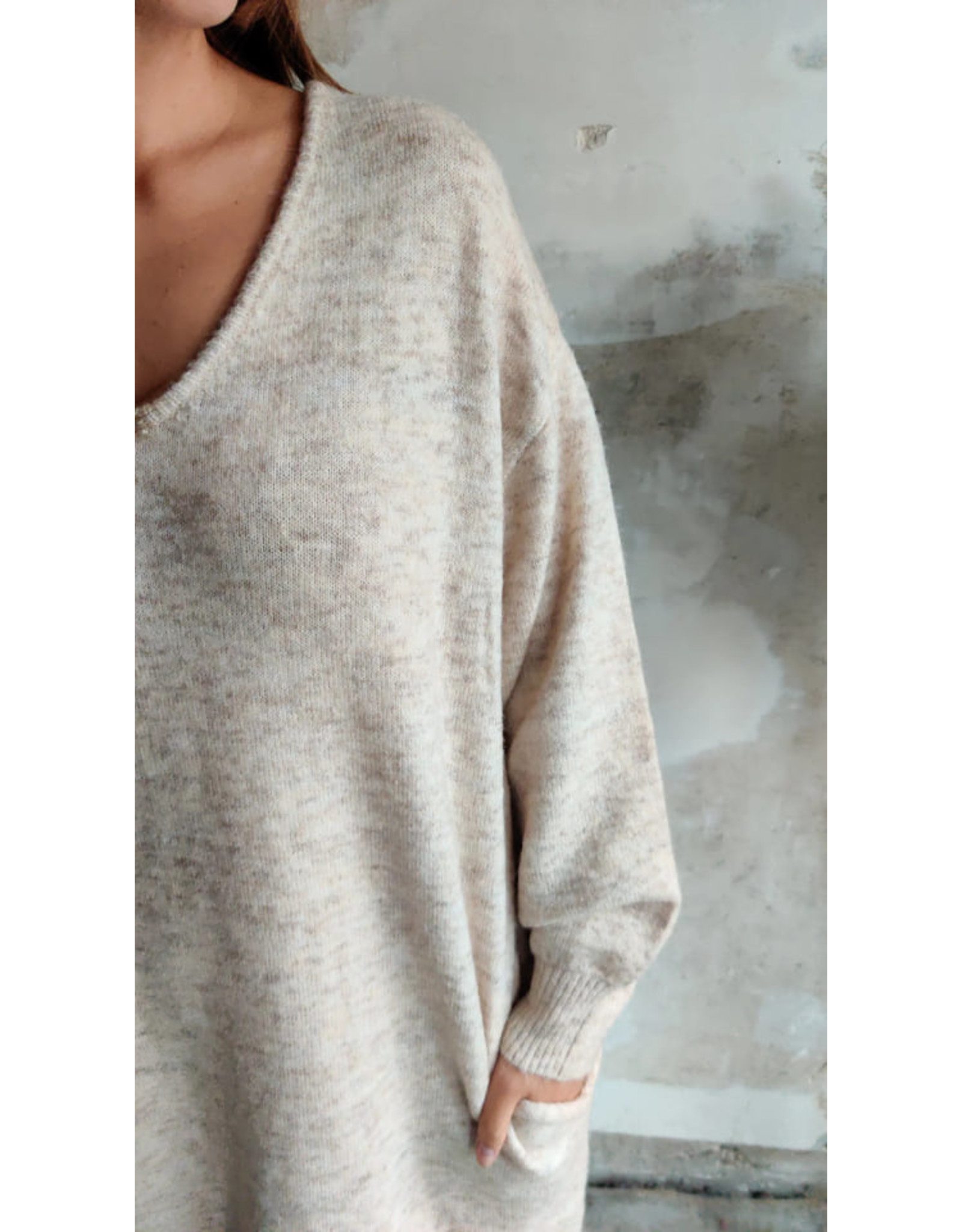 SWEATER DRESS OFFWHITE